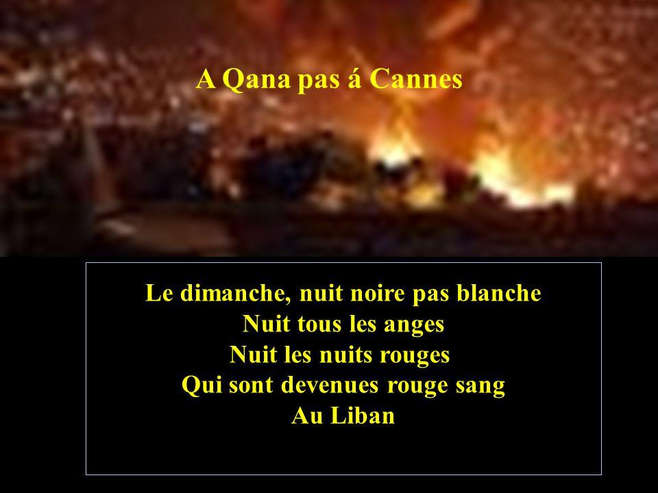 A Qana pas á Cannes Le Citoyen du XXI Siécle Est redevenu un mauvais exemple Quelle vue et quelle surprise !!!