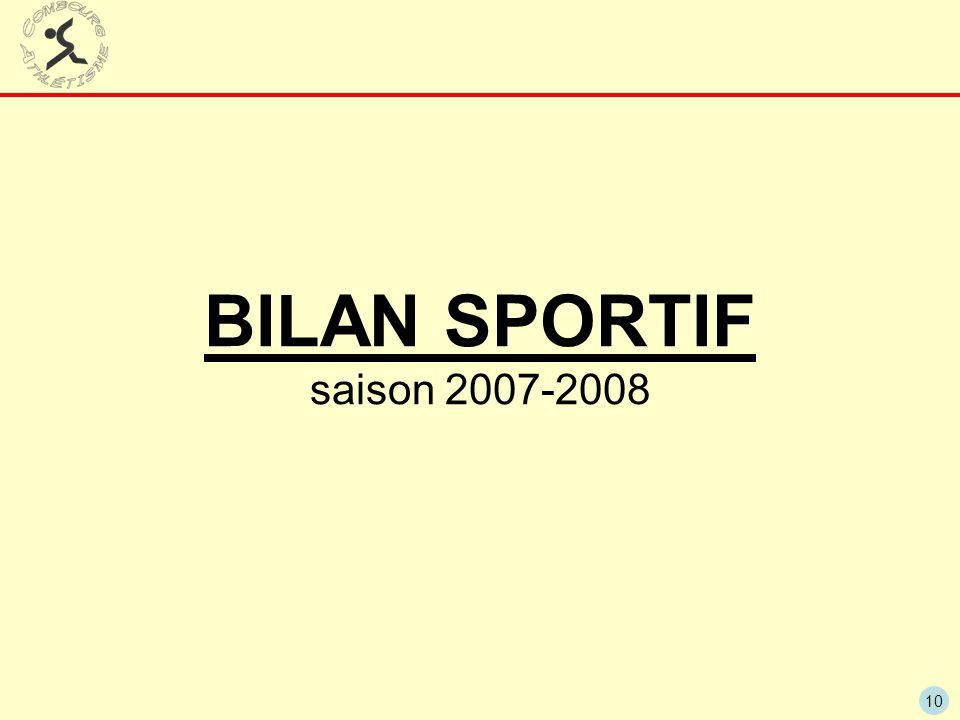 10 BILAN SPORTIF saison 2007-2008