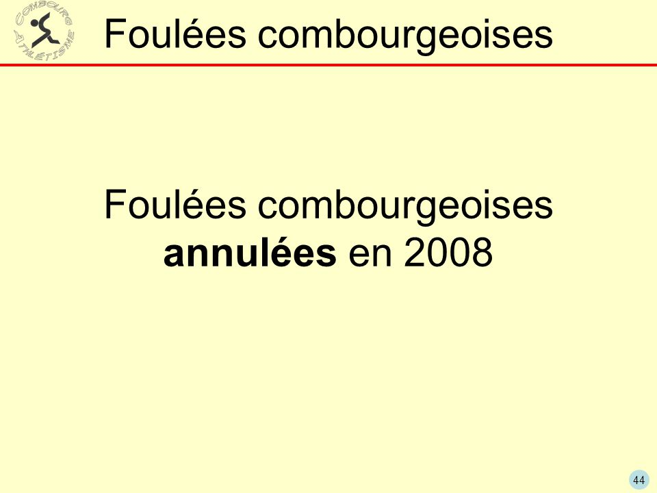44 Foulées combourgeoises Foulées combourgeoises annulées en 2008