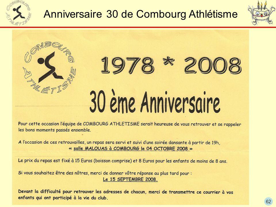 62 Anniversaire 30 de Combourg Athlétisme