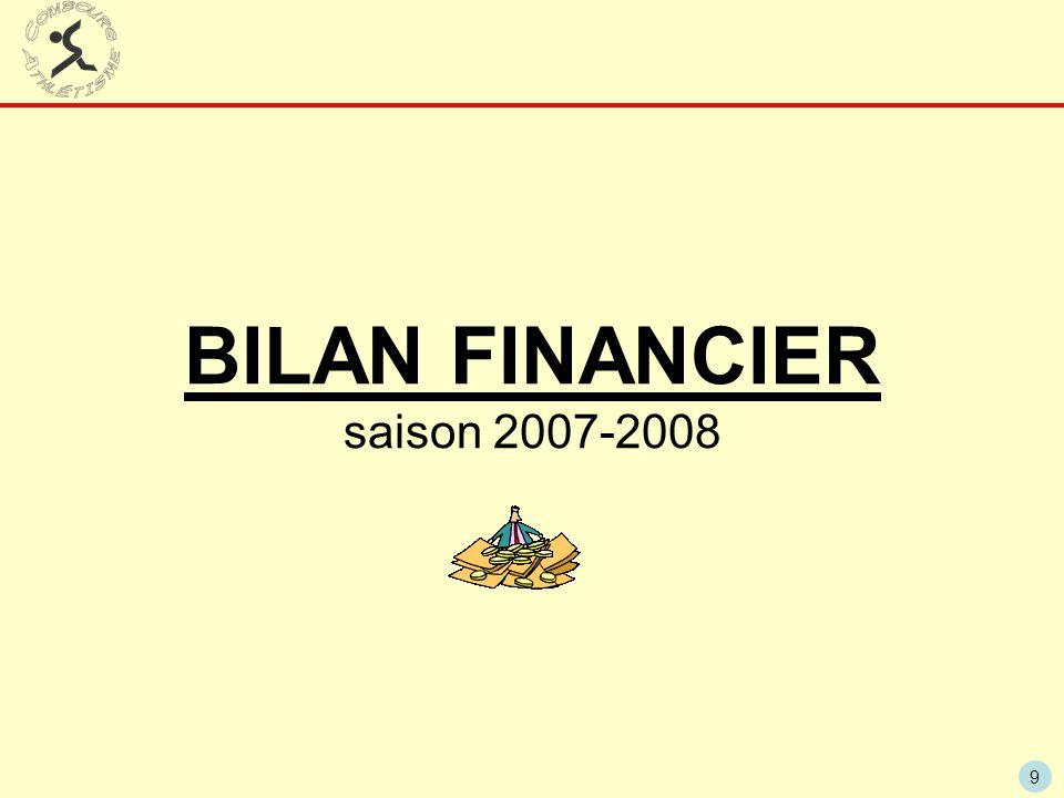 9 BILAN FINANCIER saison 2007-2008