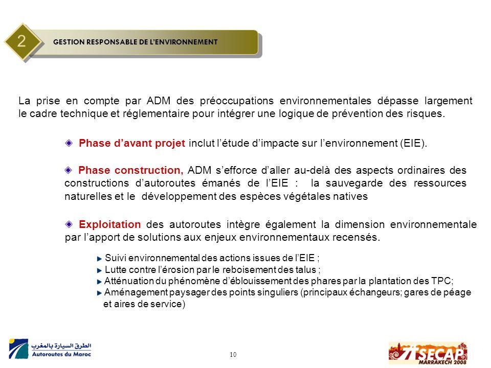 10 La prise en compte par ADM des préoccupations environnementales dépasse largement le cadre technique et réglementaire pour intégrer une logique de