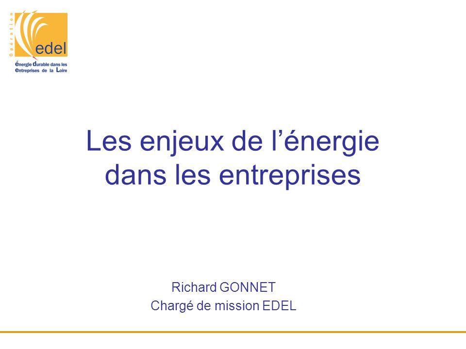 Les enjeux de l'énergie dans les entreprises Richard GONNET Chargé de mission EDEL