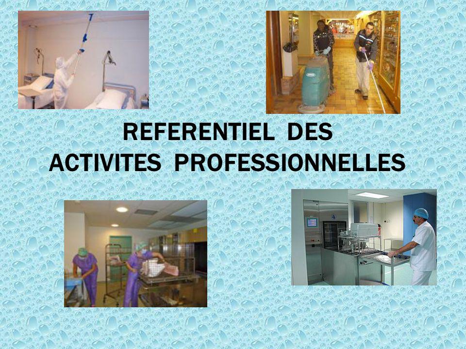 REFERENTIEL DES ACTIVITES PROFESSIONNELLES