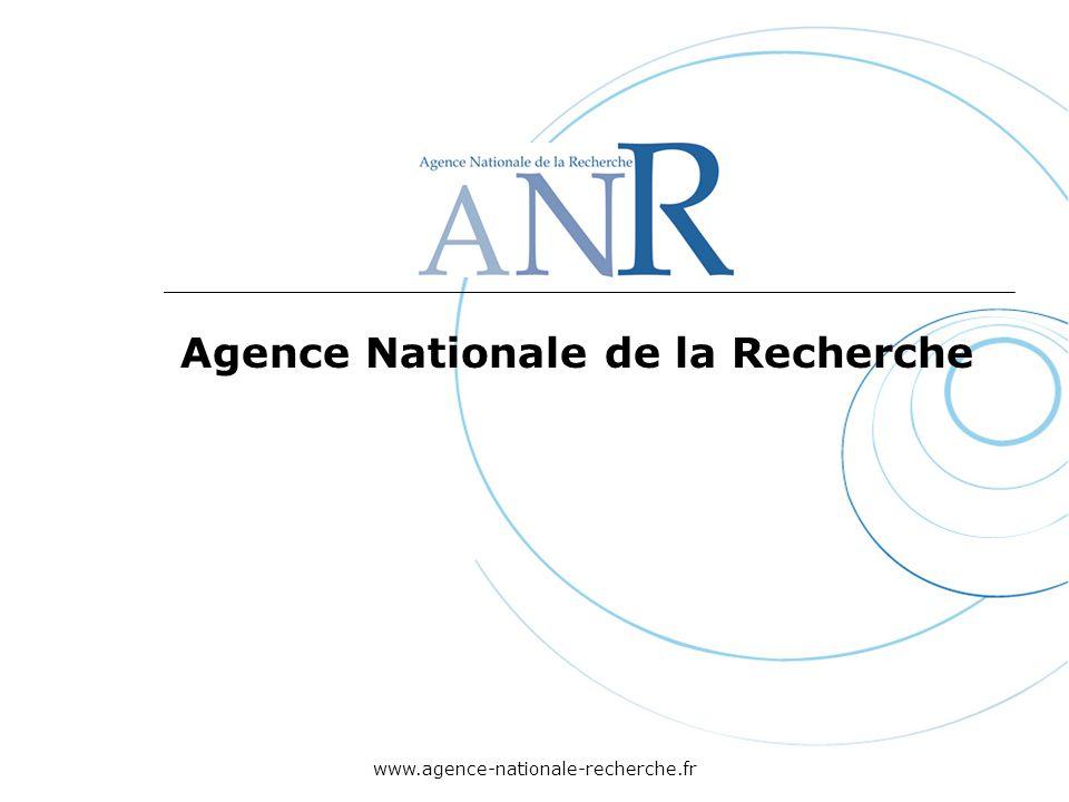 www.agence-nationale-recherche.fr Agence Nationale de la Recherche