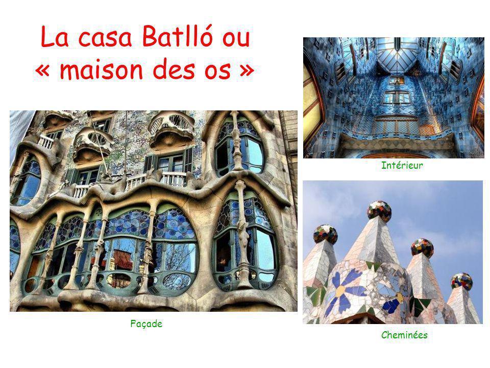 La casa Batlló ou « maison des os » Façade Intérieur Cheminées