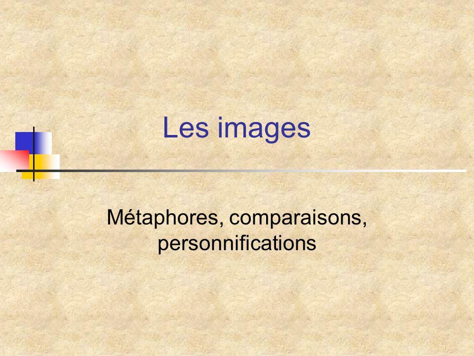 Entraînez-vous (2) Repérez le comparé, le comparant et les points communs dans les images suivantes : 1.