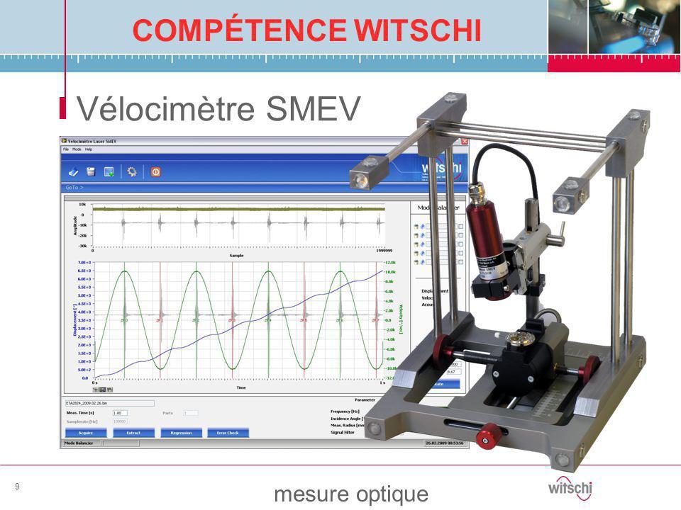 COMPÉTENCE WITSCHI mesure optique 9 Vélocimètre SMEV
