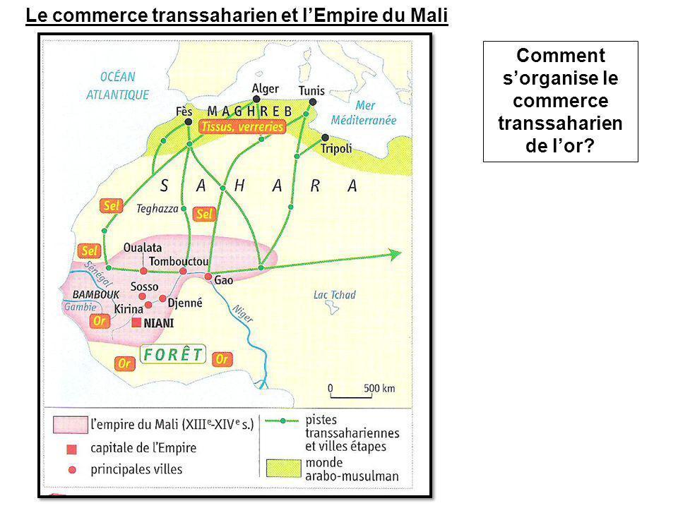 Comment s'organise le commerce transsaharien de l'or? Le commerce transsaharien et l'Empire du Mali