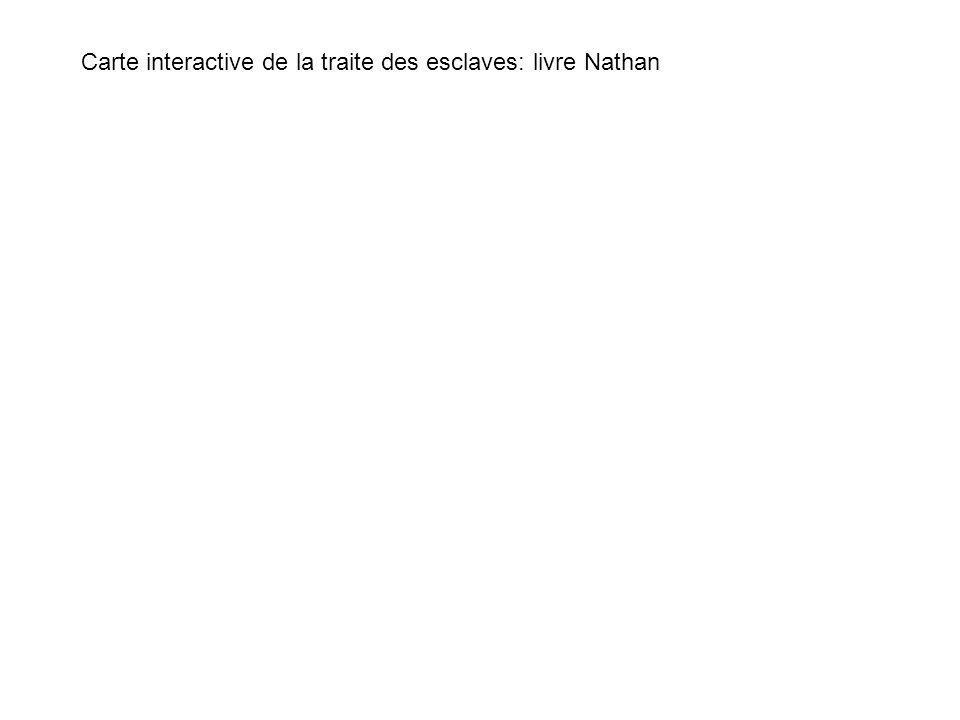 Carte interactive de la traite des esclaves: livre Nathan