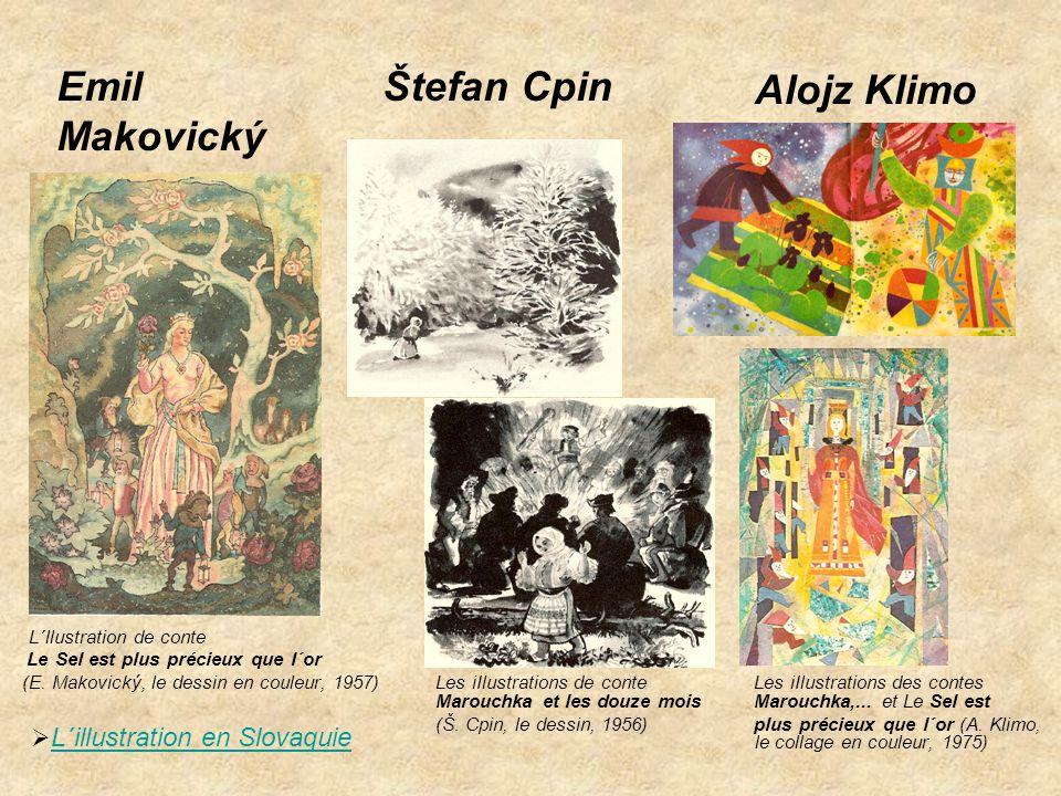 Alojz Klimo L´llustration de conte Le Sel est plus précieux que l´or (E. Makovický, le dessin en couleur, 1957) Les iIlustrations de conte Les iIlustr