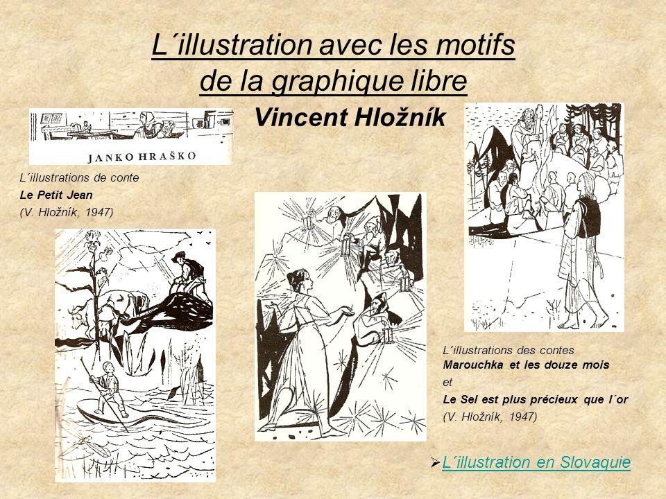 Les illustrateurs cadets La page de titre de 3 e livre des Contes slovaques et l´illustration de conte Anitchka, la belle rose (A.