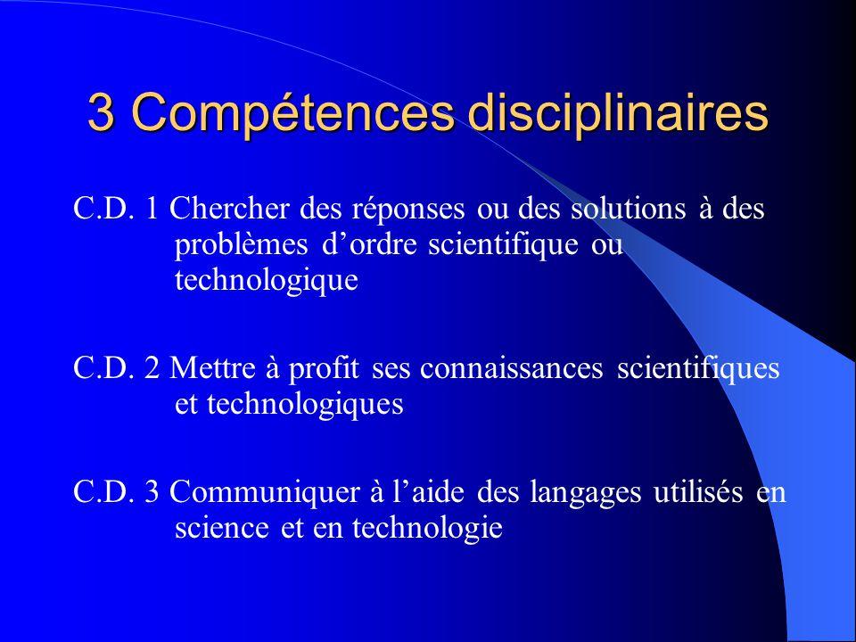 3 Compétences disciplinaires C.D.