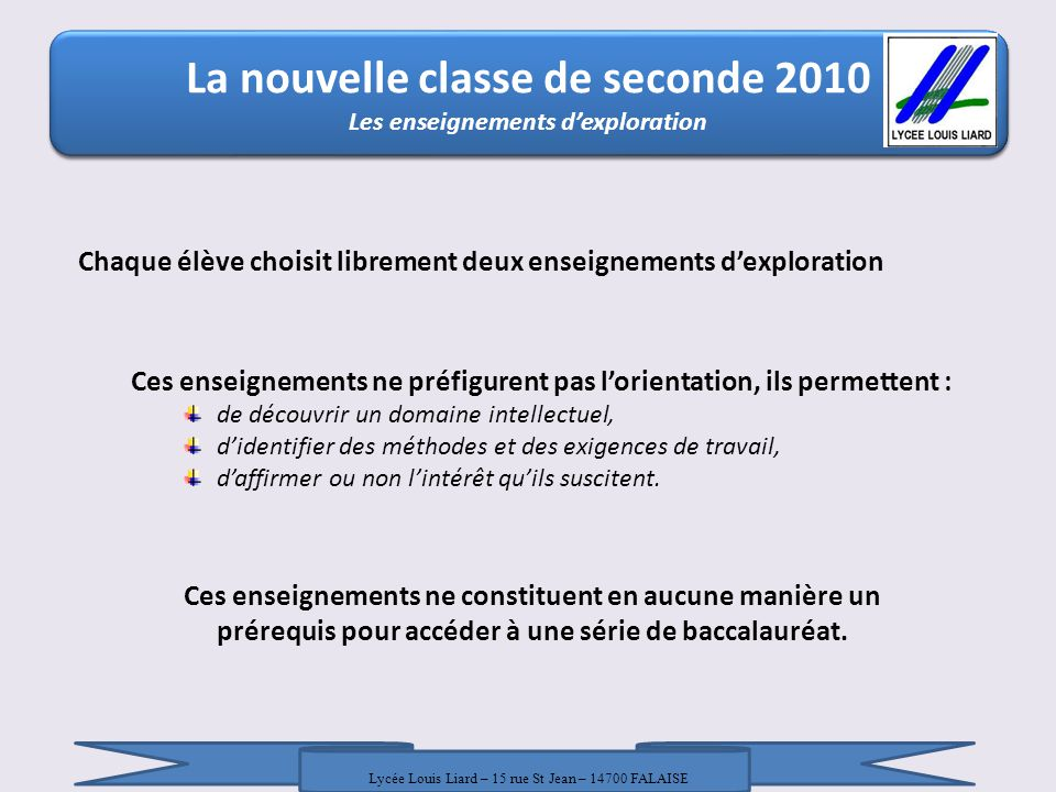 La nouvelle classe de seconde 2010 La nouvelle classe de seconde 2010 / 18 Janvier 2010 / DRONISEP Nice / LR - AT Chaque élève choisit librement deux