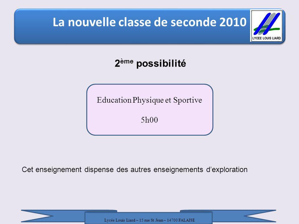 La nouvelle classe de seconde 2010 La nouvelle classe de seconde 2010 / 18 Janvier 2010 / DRONISEP Nice / LR - AT 2 ème possibilité Education Physique
