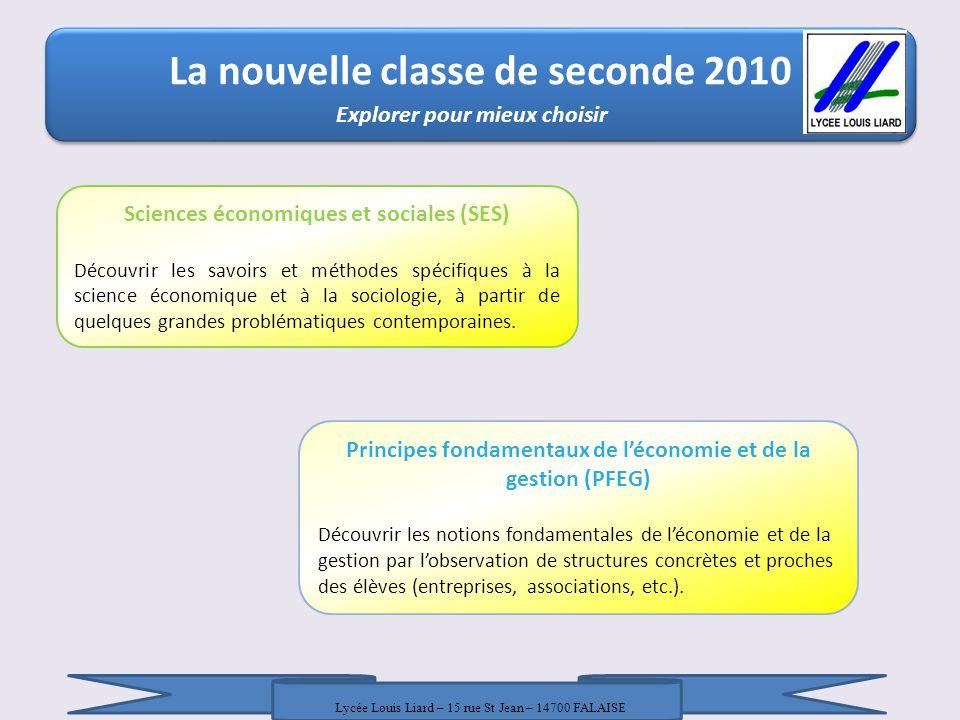 La nouvelle classe de seconde 2010 La nouvelle classe de seconde 2010 / 18 Janvier 2010 / DRONISEP Nice / LR - AT Explorer pour mieux choisir Principe