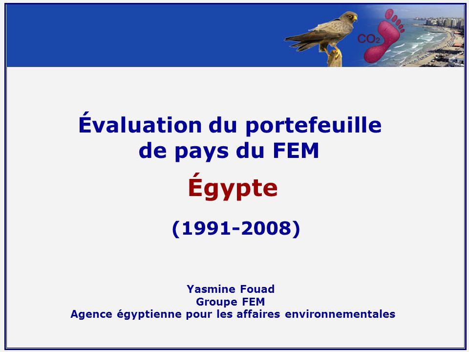 Évaluation du portefeuille de pays du FEM Égypte (1991-2008) Yasmine Fouad Groupe FEM Agence égyptienne pour les affaires environnementales