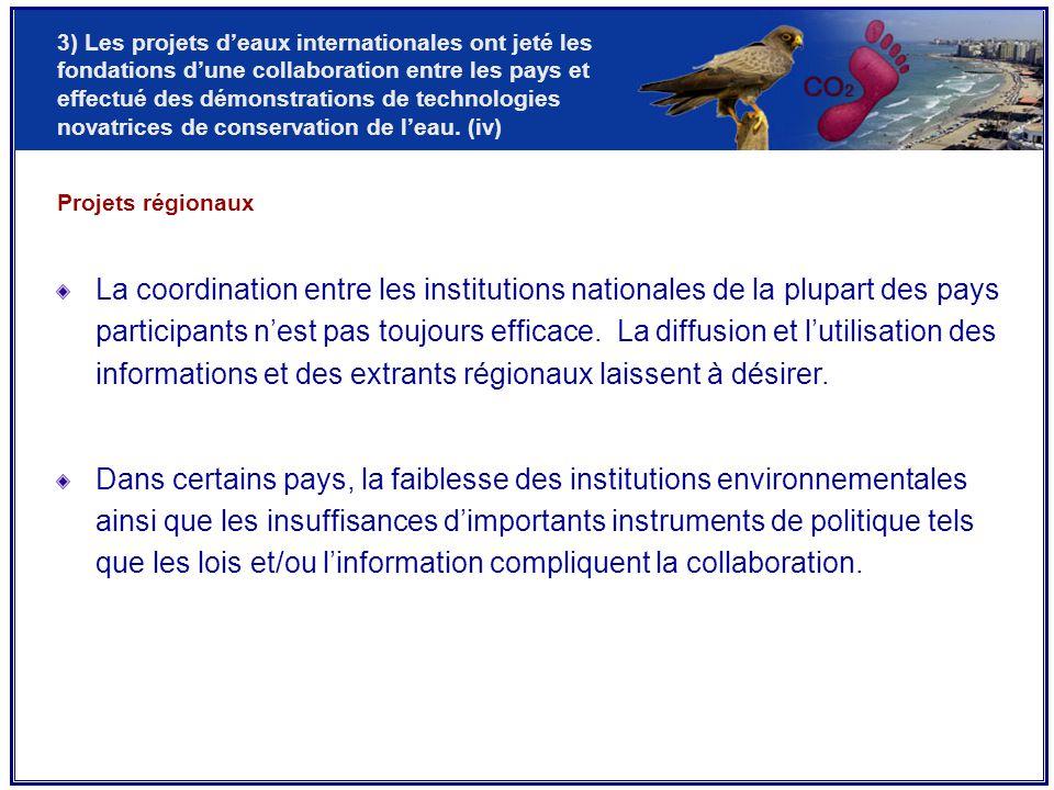 La coordination entre les institutions nationales de la plupart des pays participants n'est pas toujours efficace.