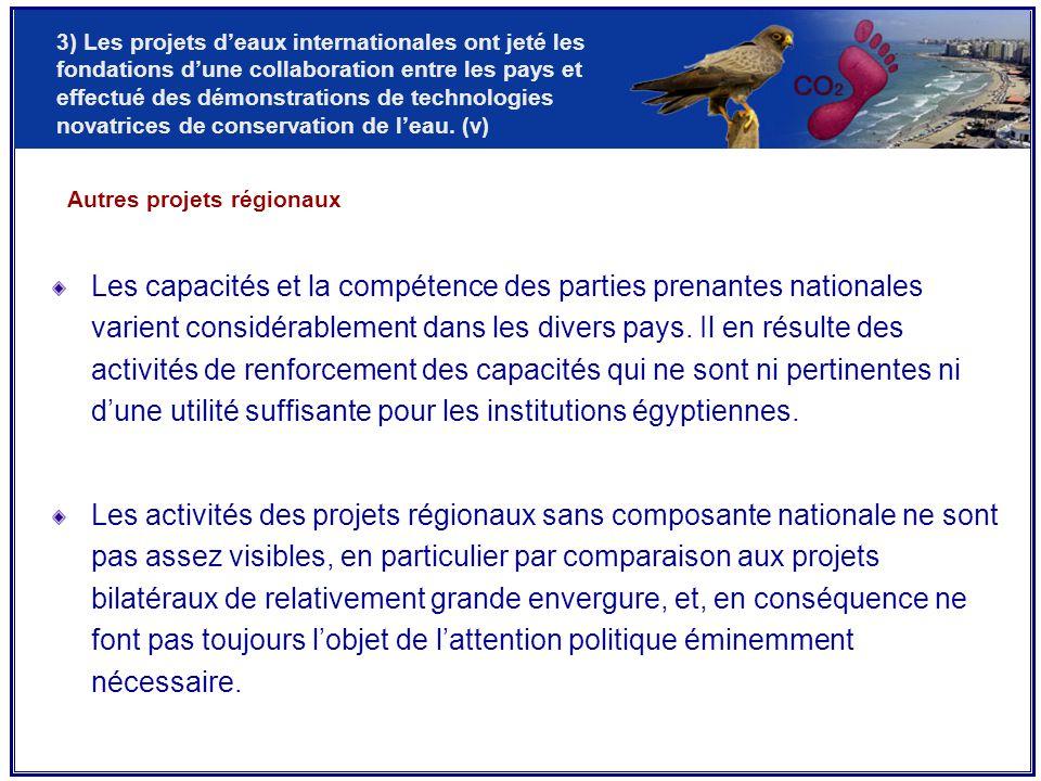 Les capacités et la compétence des parties prenantes nationales varient considérablement dans les divers pays.