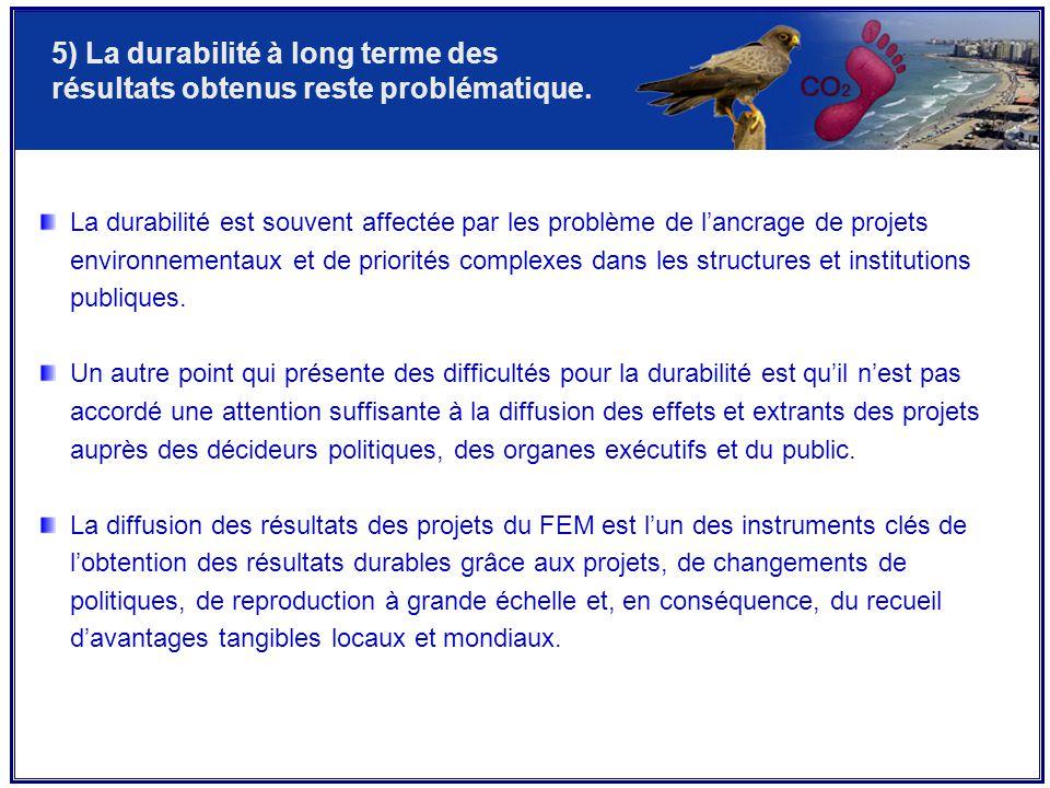 5) La durabilité à long terme des résultats obtenus reste problématique.