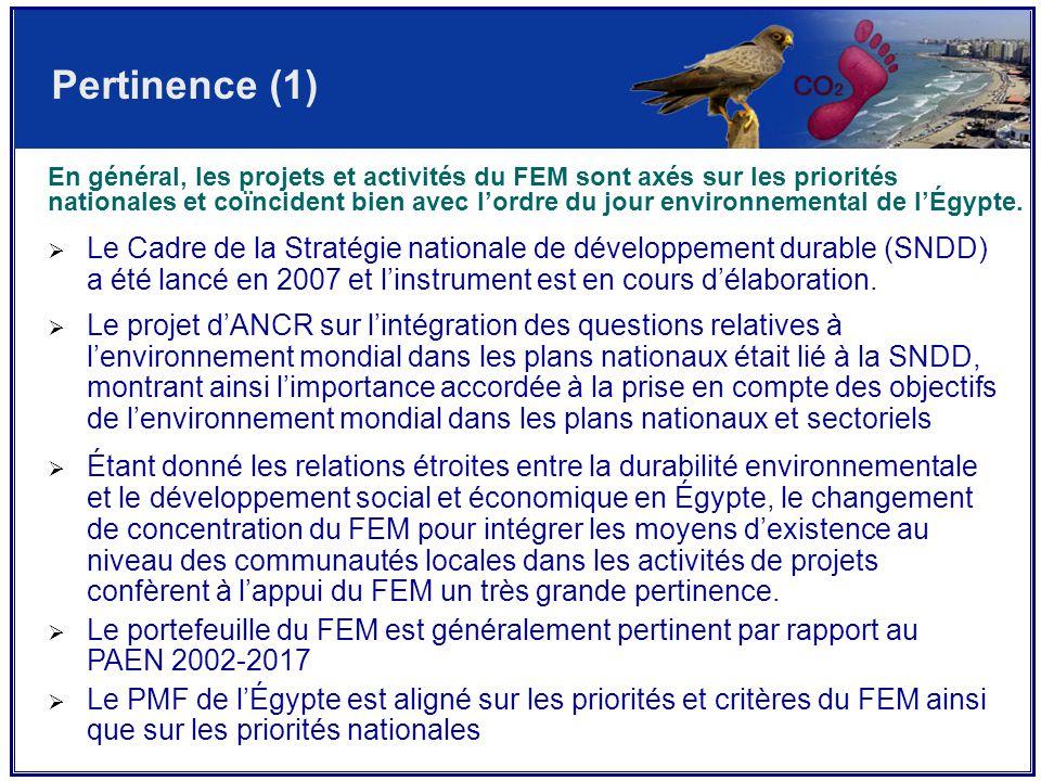  Le Cadre de la Stratégie nationale de développement durable (SNDD) a été lancé en 2007 et l'instrument est en cours d'élaboration.