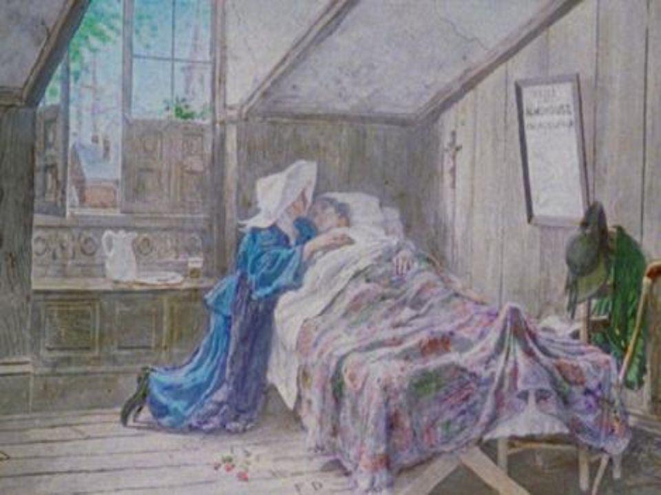 Une épidémie s étant répandue dans la ville, Évangéline allait tous les jours à l hospice soigner les malades.
