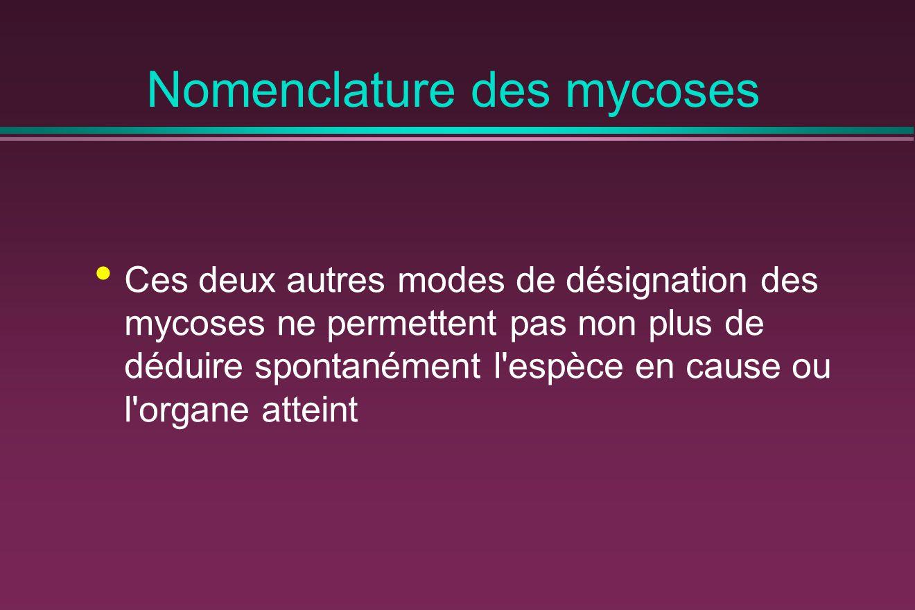 Classification clinique et aspects pathologiques des mycoses Mycoses superficielles Dermatophyties