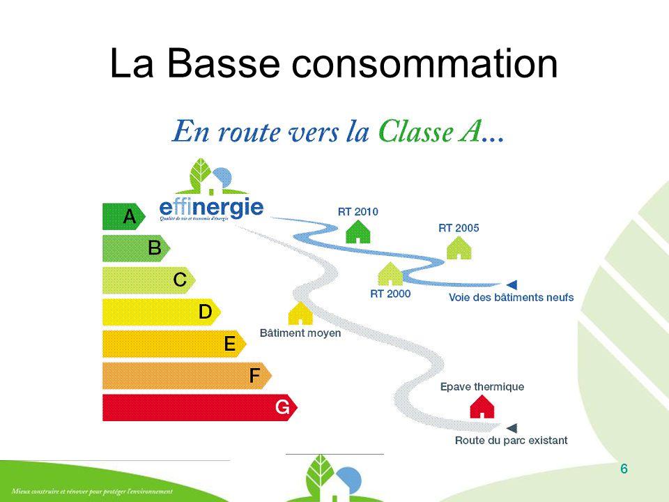 6 La Basse consommation