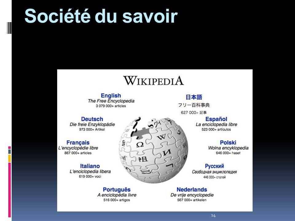 14 Société du savoir Société du savoir