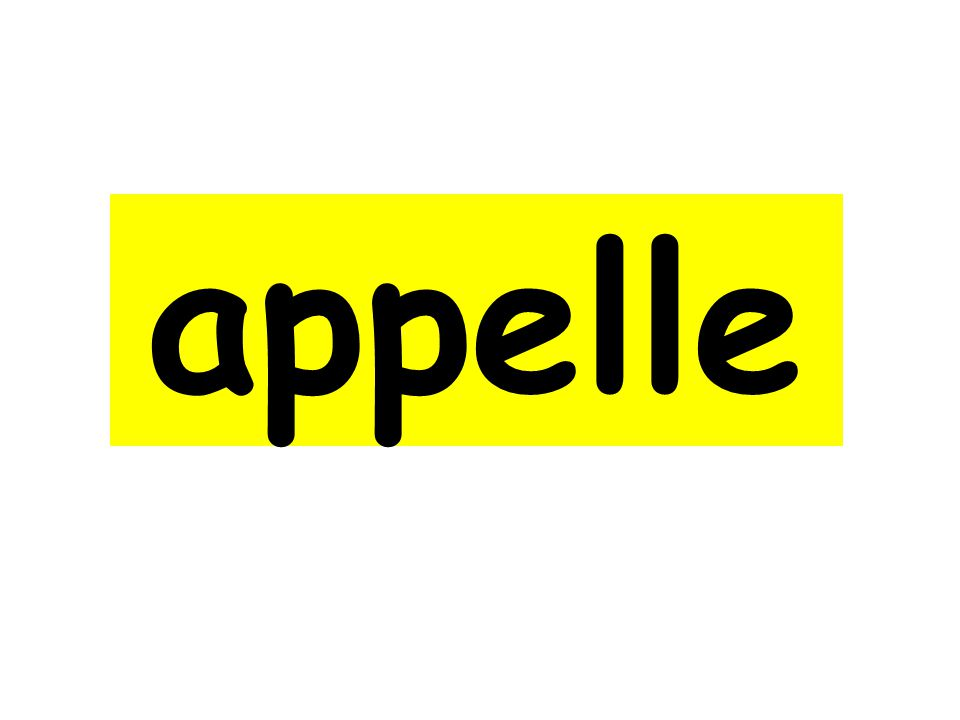 appelle