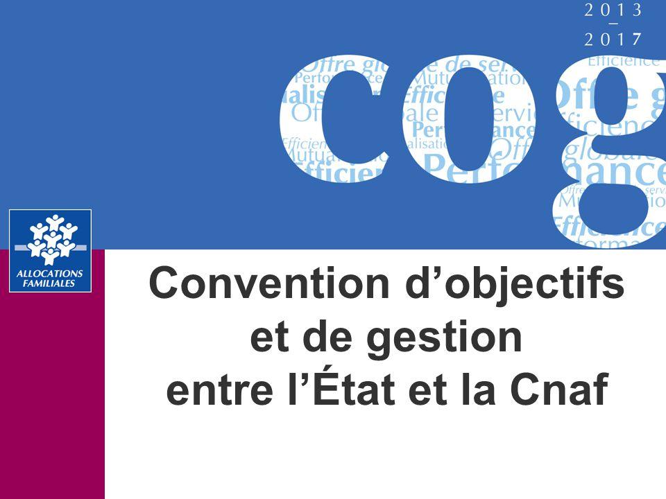 Convention d'objectifs et de gestion entre l'État et la Cnaf