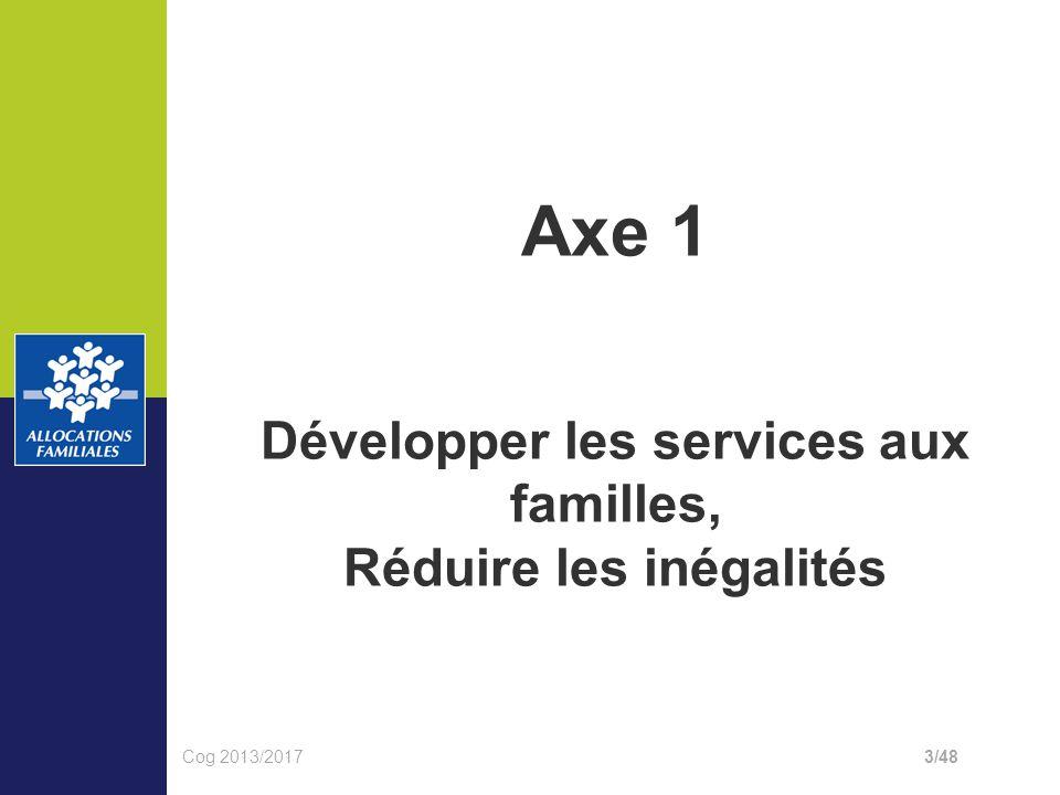 Conféren ce de Axe 1 Développer les services aux familles, Réduire les inégalités Cog 2013/20173/48