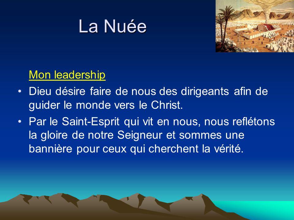 Mon leadership Dieu désire faire de nous des dirigeants afin de guider le monde vers le Christ. Par le Saint-Esprit qui vit en nous, nous reflétons la
