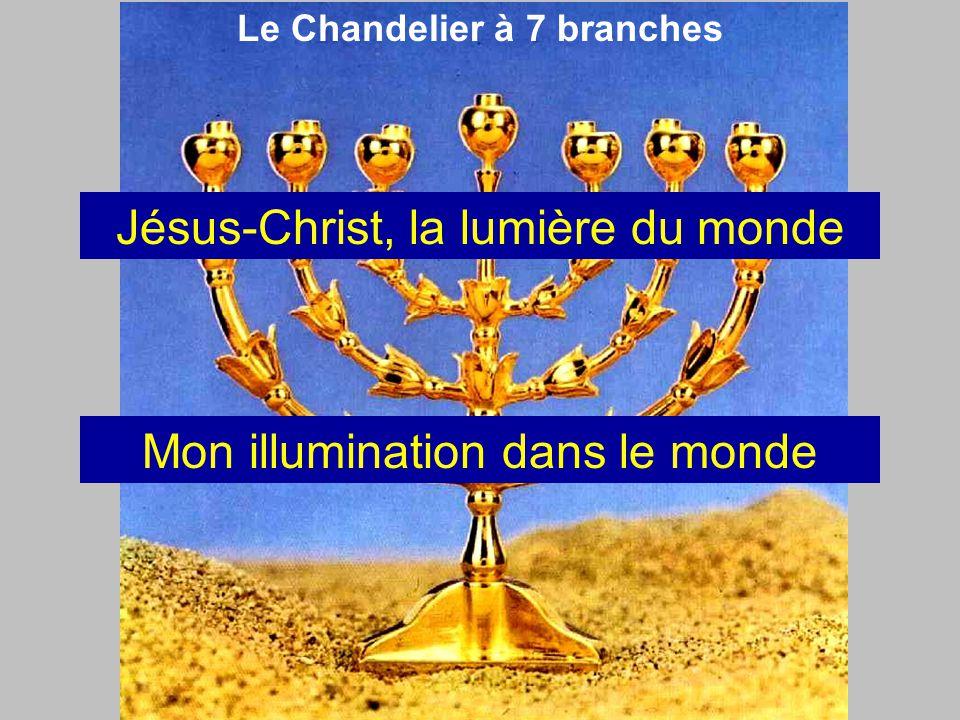Le Chandelier à 7 branches Jésus-Christ, la lumière du monde Mon illumination dans le monde