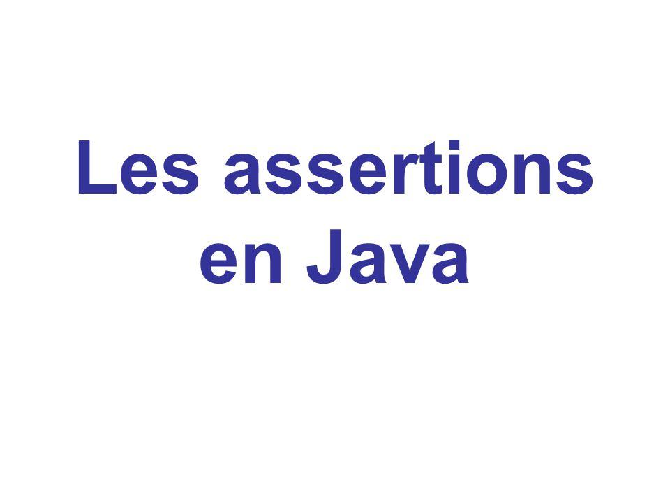 Les assertions en Java