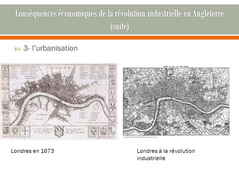  3- l'urbanisation Londres à la révolution industrielle Londres en 1673
