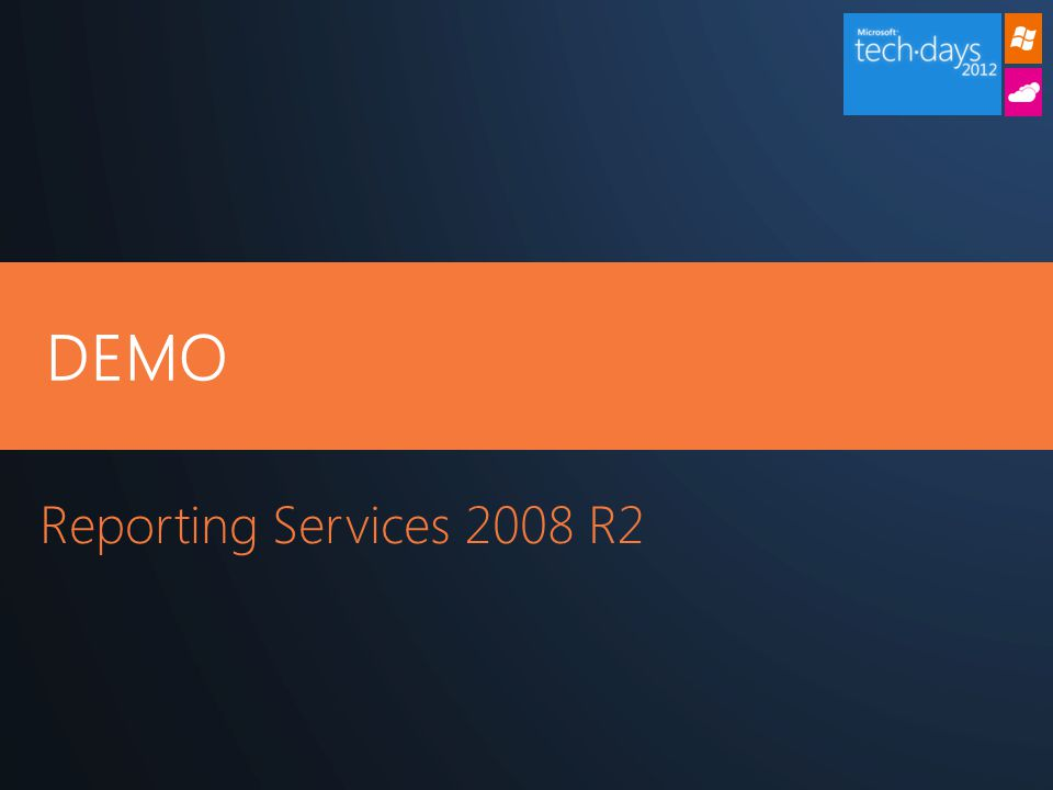 DEMO Reporting Services 2008 R2