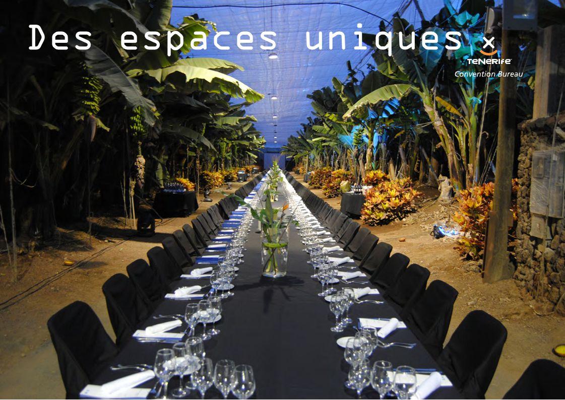Des espaces uniques