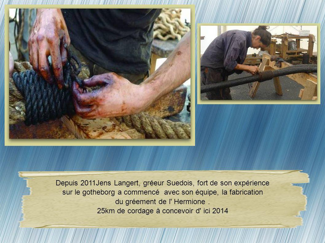 En 2009, le chantier Bernard a pris en charge, certains travaux de charpente,notemment la pose de bordés de clore et le calfatage de la coque. Yannick