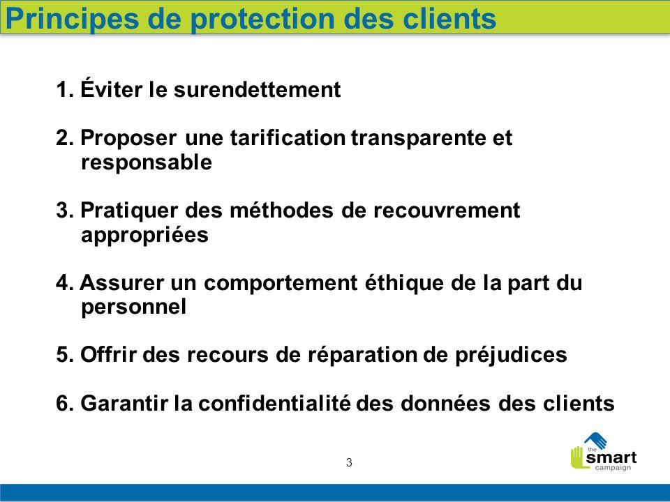 3 1.Éviter le surendettement 2. Proposer une tarification transparente et responsable 3.