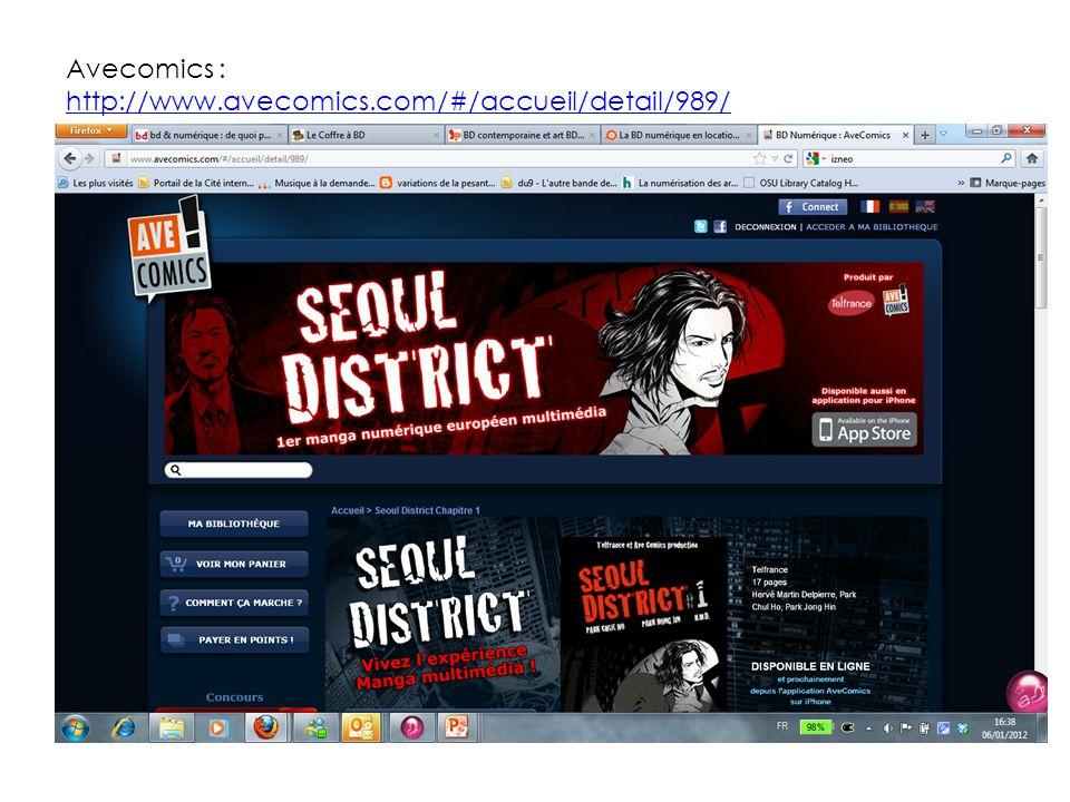 Avecomics : http://www.avecomics.com/#/accueil/detail/989/ http://www.avecomics.com/#/accueil/detail/989/