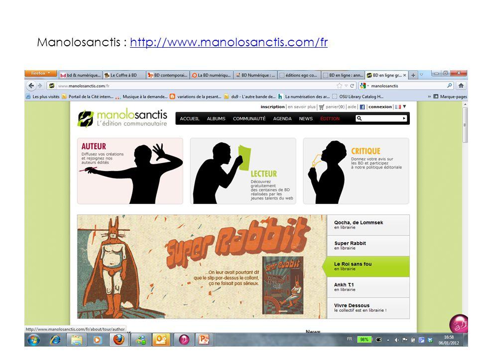 Manolosanctis : http://www.manolosanctis.com/frhttp://www.manolosanctis.com/fr