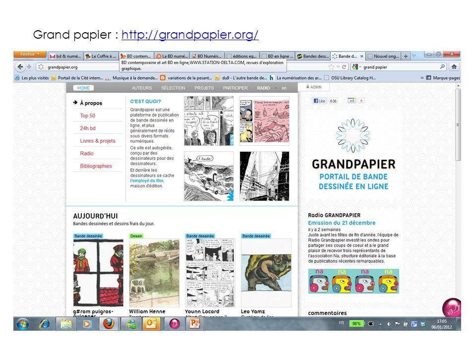 Grand papier : http://grandpapier.org/http://grandpapier.org/