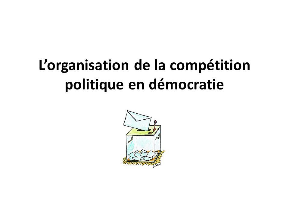 L'organisation de la compétition politique en démocratie