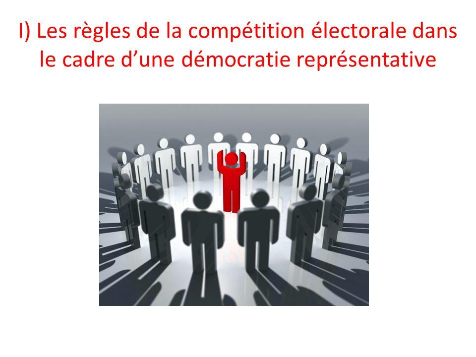 I) Les règles de la compétition électorale dans le cadre d'une démocratie représentative