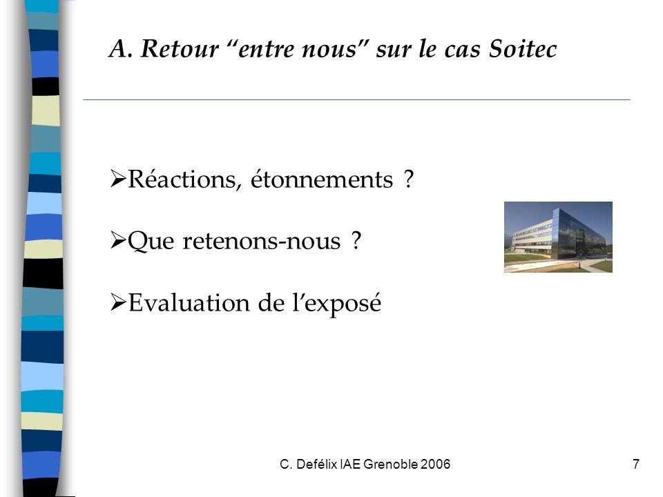 C.Defélix IAE Grenoble 20068 B. Evaluer les compétences : quoi et pourquoi .