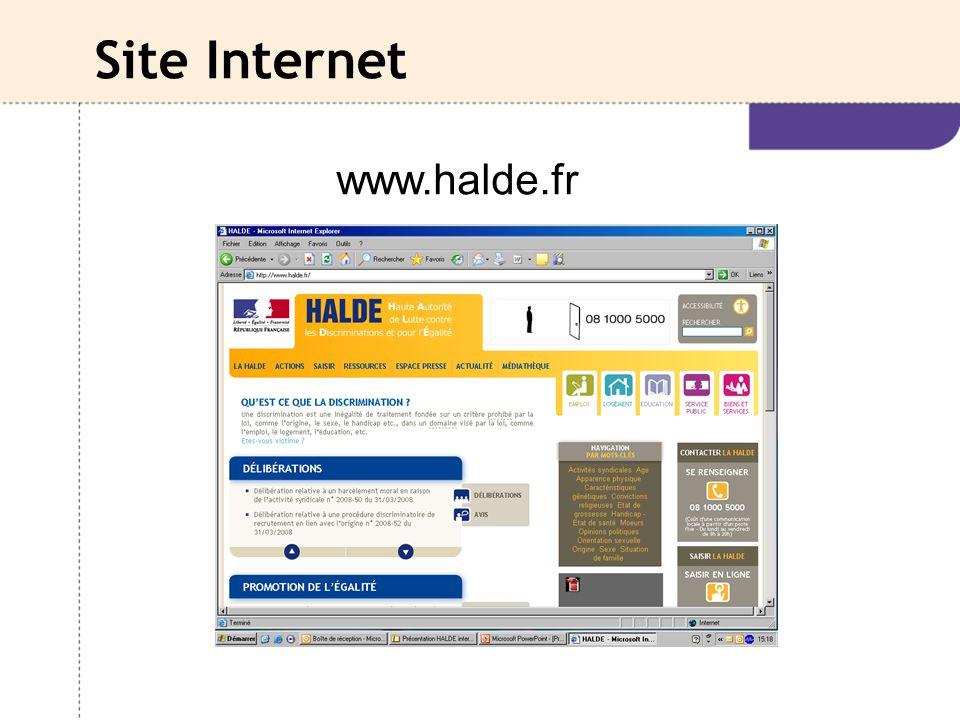 Site Internet www.halde.fr