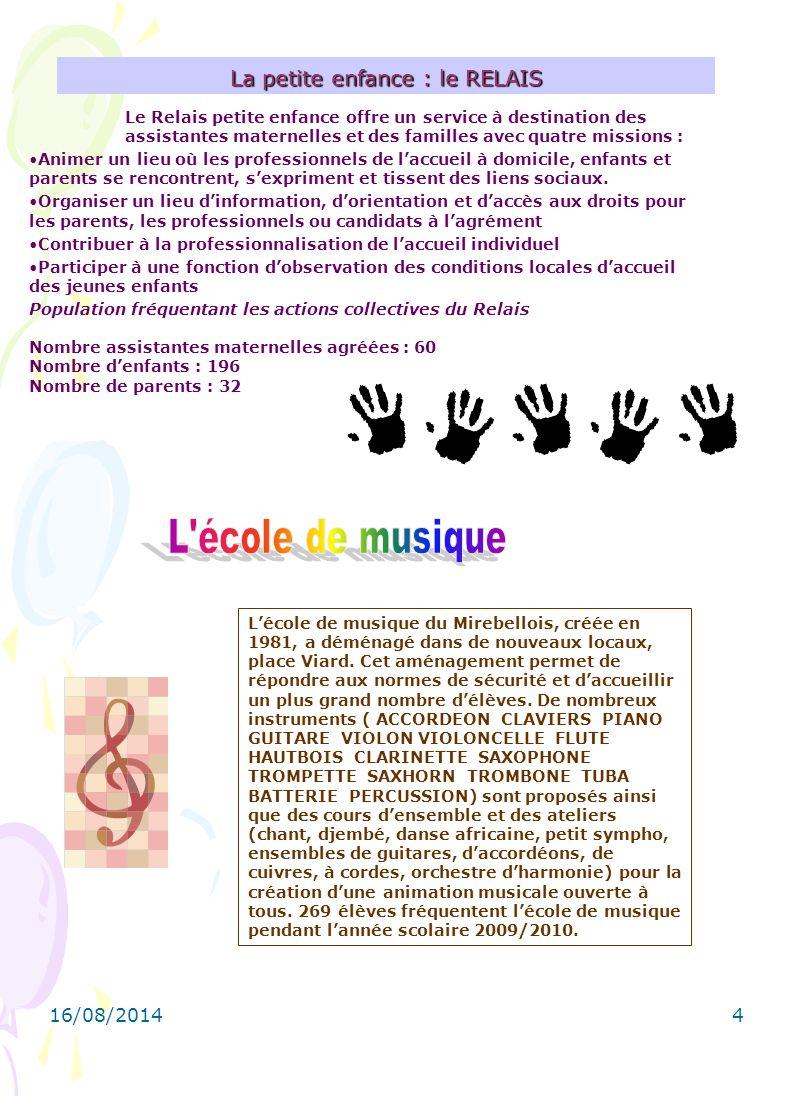 16/08/20144 L'école de musique du Mirebellois, créée en 1981, a déménagé dans de nouveaux locaux, place Viard.