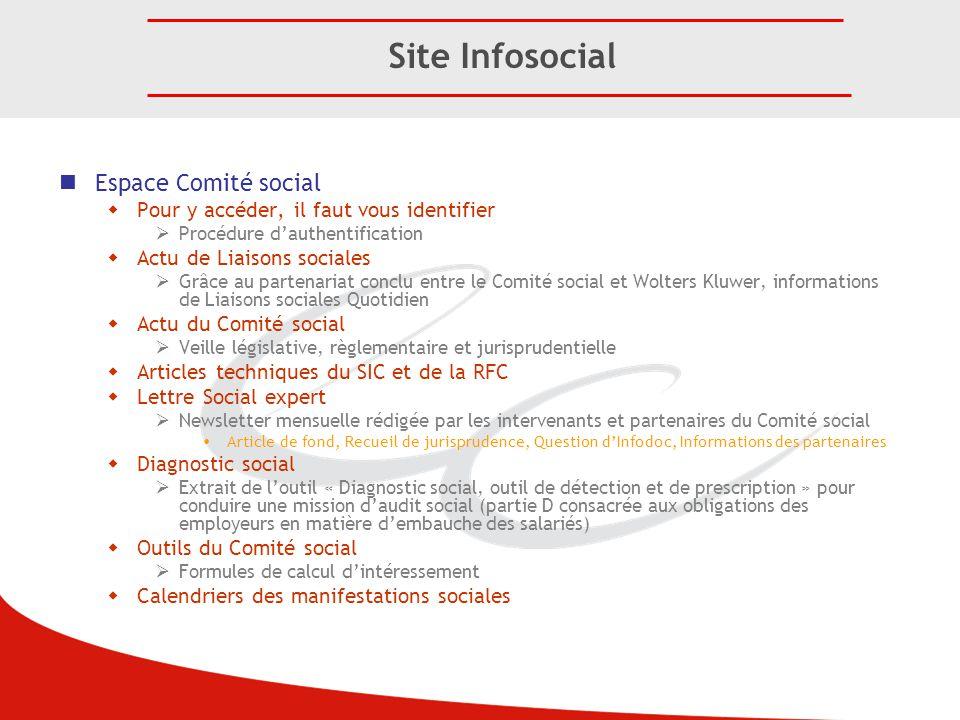 Espace Comité social  Pour y accéder, il faut vous identifier  Procédure d'authentification  Actu de Liaisons sociales  Grâce au partenariat concl