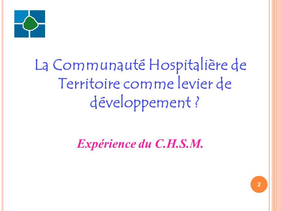 1.Présentation du C.H.S.M. 2. Rappel du contexte 3.